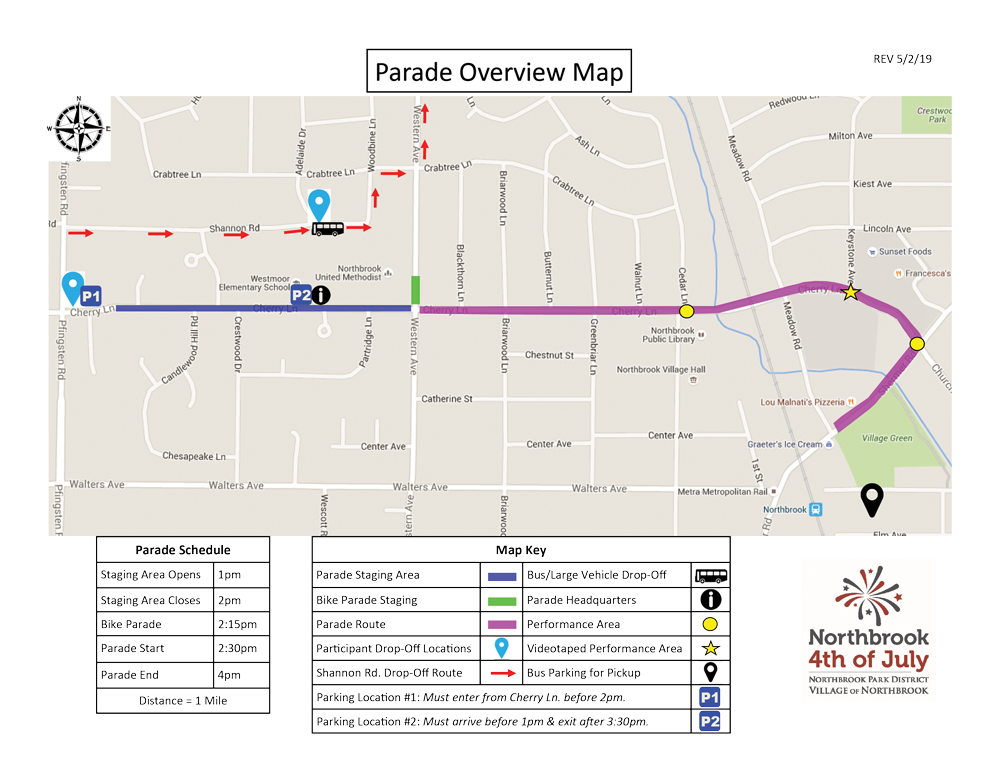 4th of July Parade Map